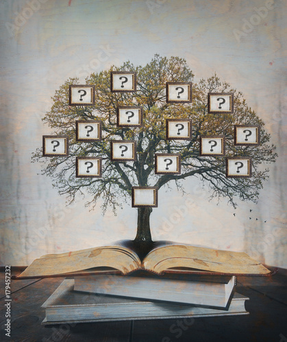 Family Tree, genealogy. Canvas Print