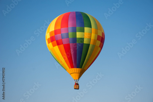 Hot air ballon in the sky