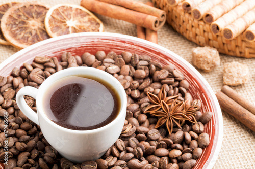 Foto op Plexiglas Cafe Coffee beans for background