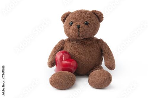 Teddybär mit rotes Herz #179471039
