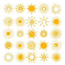 Sun Illustration. Vector Hands...