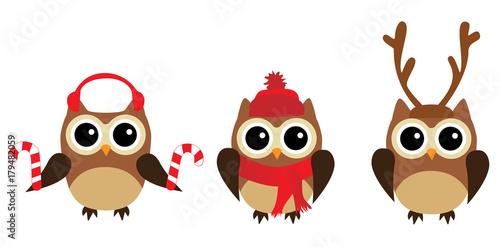 Photo Stands Owls cartoon Vector Fun Owls
