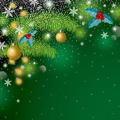 Fototapeta Boże Narodzenie/Nowy Rok Christmas background design with copy space vector illustration