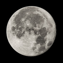 Full Moon, High Resolution Image, Shot With 800m Lens