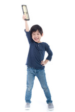 Asian Child Holding Soroban Ab...