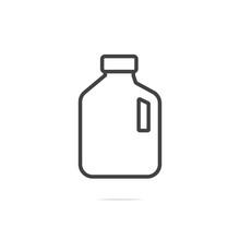 Milk Gallon Line Icon Vector