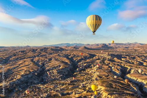 Poster Montgolfière / Dirigeable Hot air Balloons flight in Cappadocia