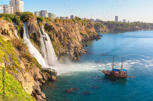 Duden waterfall in Antalya, Turkey Wallpaper Mural