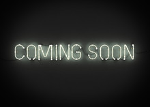 COMING SOON Neon Sign On Dark ...
