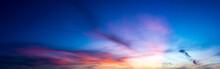 Panorama Twilight Nature Sky And Cirrus Cloud