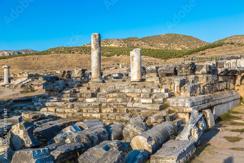 In de dag Rudnes Ancient city Hierapolis in Turkey