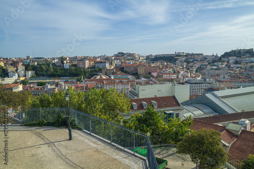 Photo  Portugal, Lisabon, city park, roofs. 2014