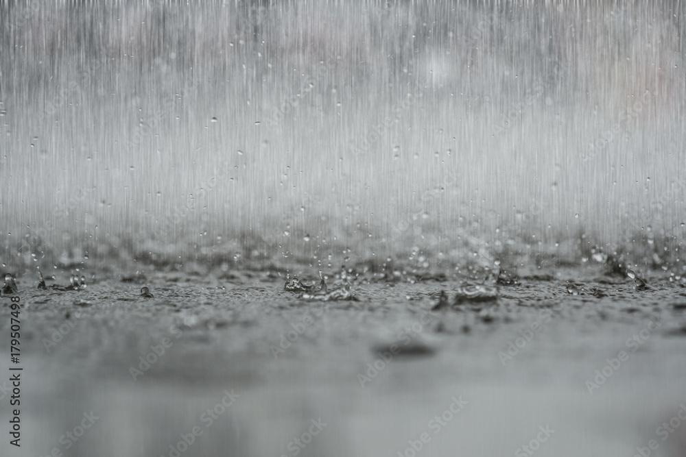 Fototapeta black white abstract background raindrop on the ground