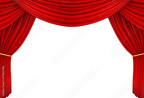 Obraz na plátně ステージ 赤カーテン
