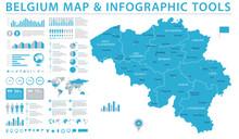 Belgium Map - Info Graphic Vec...