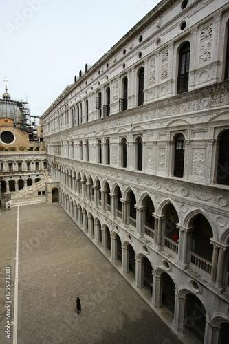 Plakat Wenecja, Pałac Dożów, Arkady