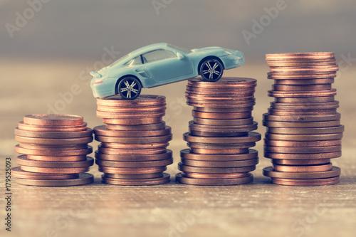 Plakat Oszczędność pieniędzy na samochód