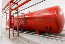 Industrial Big Red Tank Inside...