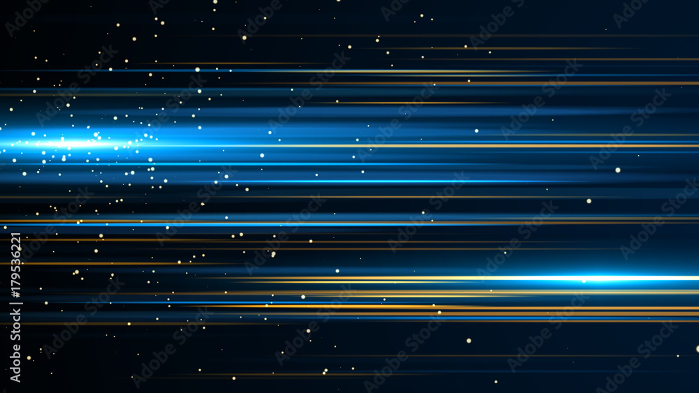 Fototapety, obrazy: Beautiful light flares. Glowing streaks on dark background. Luminous abstract sparkling lined background. light effect wallpaper