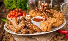 Fried Chicken Wings In Batter ...
