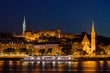 Budapest By Night Buda Side Skyline in Hungary