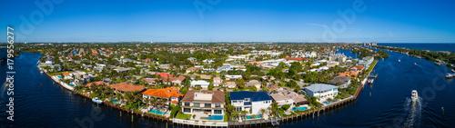 Fotografie, Obraz  Aerial photo of Hillsboro Florida residential neighborhood homes