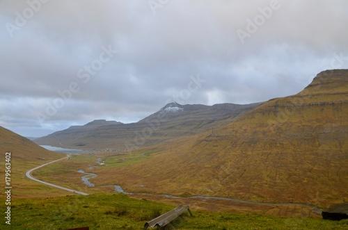 Keuken foto achterwand Grijze traf. フェロー諸島 Faroe Islands エストゥロイ島 エストロイ島 Eysturoy Island オインダールフィヨルドゥル周辺 around Oyndarfjørður