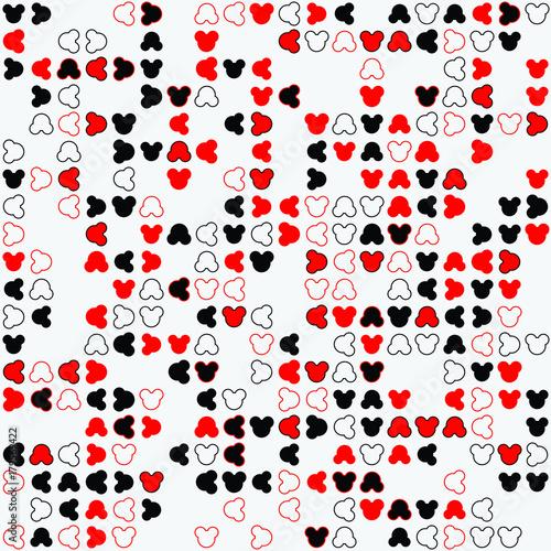 Spoed Fotobehang Lieveheersbeestjes Geometric pattern with colored elements, vector abstract background