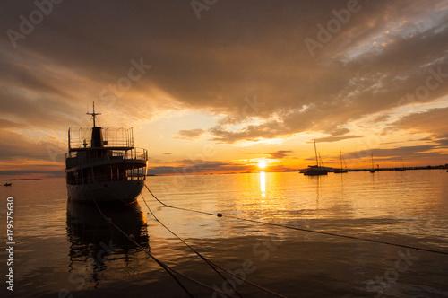 Plakat Zachód słońca na wybrzeżu