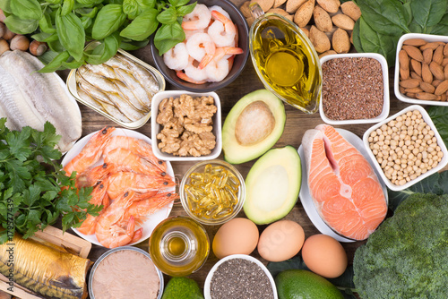 Photo Omega 3 fatty acids food sources