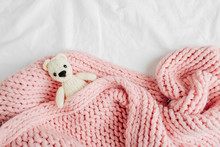A Small Knitted Baby Toy-bear ...