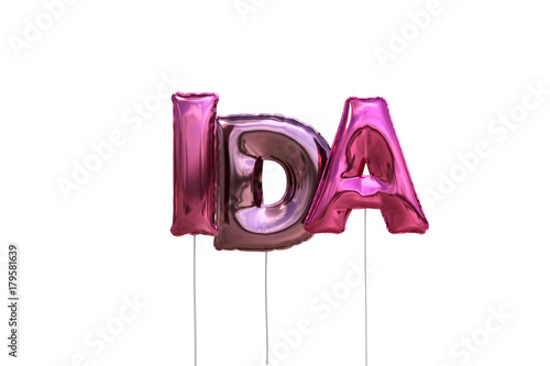 Photo  Luftballons Name Ida