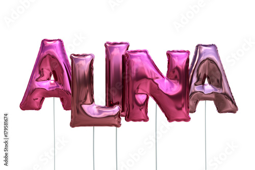 Luftballons Name Alina Wallpaper Mural