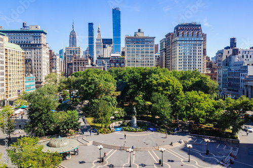 View of Union Square, New York, USA