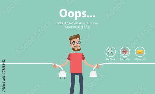 Fotomural Error page illustration.