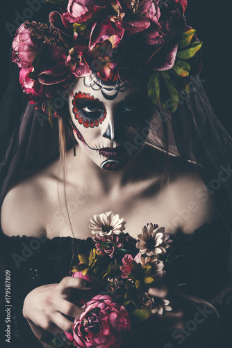Spoed Fotobehang Halloween muertos in the dark