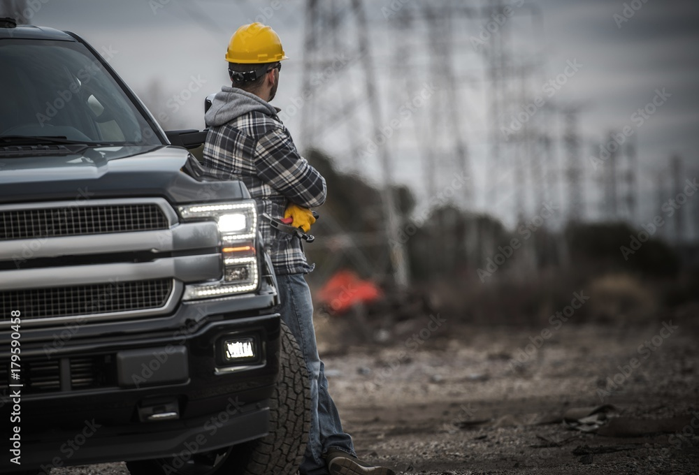 Fototapety, obrazy: Contractor Field Work Job