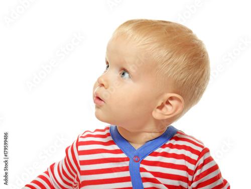 ac6f3c1b2 Cute little baby in romper suit