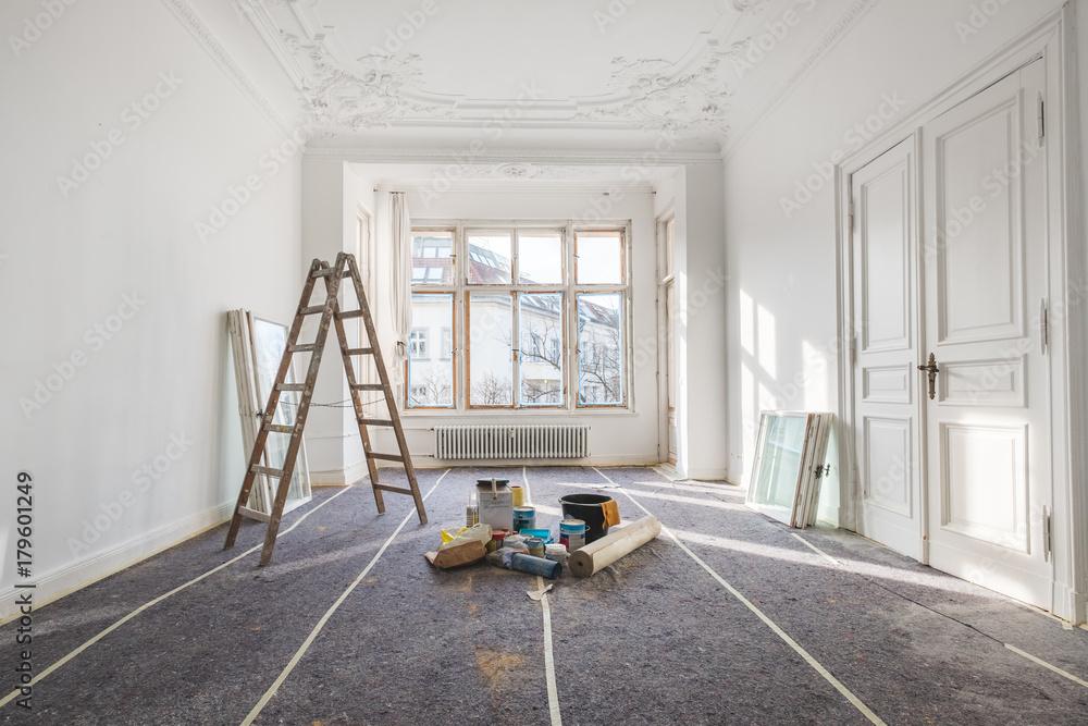 Renovierung   Alte Wohnung Während Der Restaurierung / Sanierung Foto,  Poster, Wandbilder Bei EuroPosters