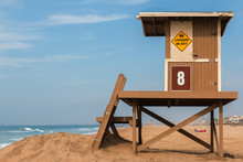 Wooden Lifeguard Stand On Beac...