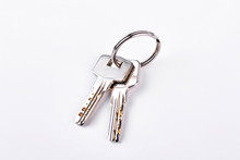 Doors Keys Isolated On White B...