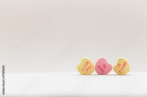 Valentine S Day Candy Conversation Hearts Saying I Love You In