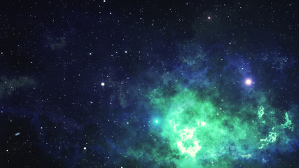 Space nebula. 3d Illustration, for use with projects on science, research, and education.