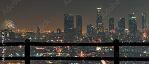 Obraz na dibondzie (fotoboard) 4 lipca nad centrum Los Angeles