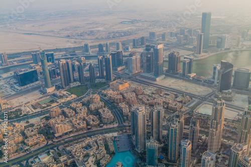 Fototapeta Widok z lotu ptaka Dubaj, Zjednoczone Emiraty Arabskie