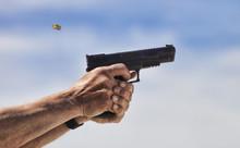 Flying Handgun Brass