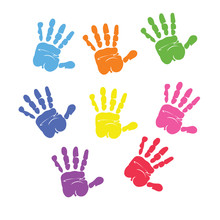 Set Of Colorful Hand Prints Is...