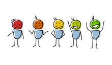 Set Of Characters Conceptualiz...