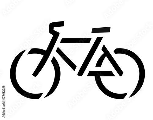 Obraz Stencil bike symbol - fototapety do salonu