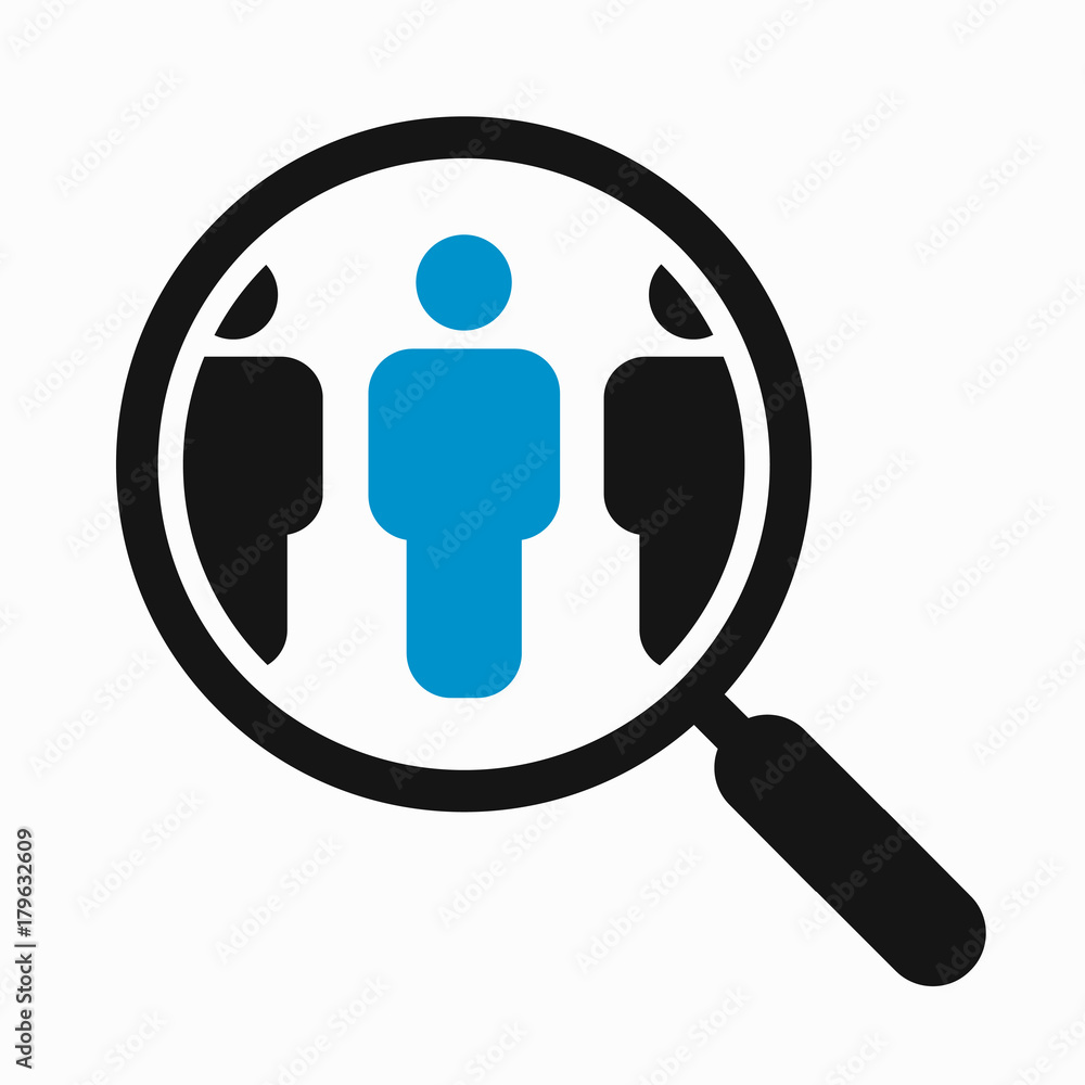 Fototapety, obrazy: Magnifying glass search people